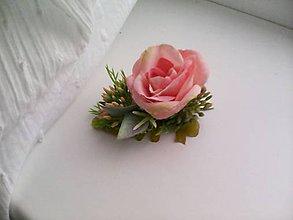 """Ozdoby do vlasov - Sponka do vlasov """"... malá ružička ..."""" - 10702391_"""