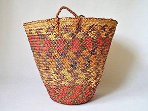 Nákupné tašky - Núbijský palmový kôš, jedinečný egyptský kôš - 10704712_
