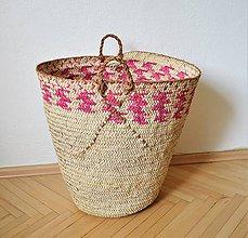 Nákupné tašky - Núbijský palmový kôš, jedinečný egyptský kôš - 10704744_