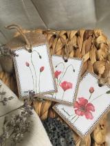 Papiernictvo - Vlčie maky - darčekové kartičky - 10703839_