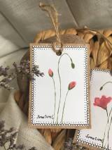 Papiernictvo - Vlčie maky - darčekové kartičky - 10703840_