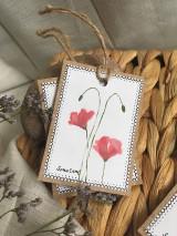 Papiernictvo - Vlčie maky - darčekové kartičky - 10703845_