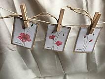 Papiernictvo - Vlčie maky - darčekové kartičky - 10703850_