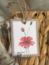 Papiernictvo - Vlčie maky - darčekové kartičky - 10703851_