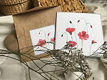 Papiernictvo - Vlčie maky - blahoželanie + obálka - 10704001_