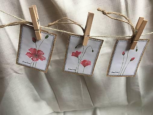 Vlčie maky - darčekové kartičky