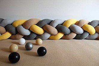 Detské doplnky - Zapletanec Štvorkáč-zemitý, rôzne farby, dĺžka 50-500cm - 10705508_