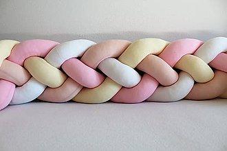 Detské doplnky - Zapletanec Štvorkáč Marshmallow, rôzne farby, dĺžka 50-500cm - 10705529_