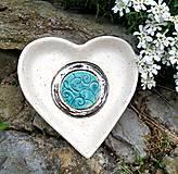 Nádoby - keramická miska - Srdce - 10703657_