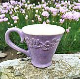 Nádoby - Šáločka na kávu - Levandulová - 10703727_