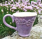 Nádoby - Šáločka na kávu - Levandulová - 10703728_