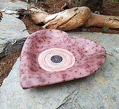 Nádoby - keramická miska - Srdce - 10703636_