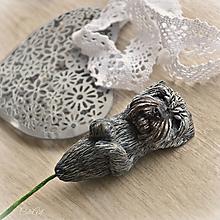 Pierka - Psík do pierka hrubosrstý - zápich podľa fotografie psa - 10704309_
