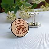 Šperky - Manžetové gombičky folk . včela - 10704127_