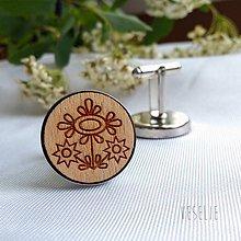 Šperky - Manžetové gombičky folk . trojkvietok - 10704104_