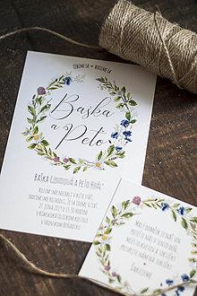 Papiernictvo - Svadobné oznámenie - Lúka kvetov - 10703602_