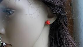Náušnice - Ovocie - napichovačky (jahody, č. 2672) - 10704718_