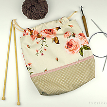 Iné tašky - Tvoritaška s ružami ~ projektová taška na vaše tvorenie - 10704049_