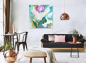 Obrazy - Pastelová paleta -  obraz 100 x 100 cm - 10704264_