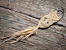 Kľúčenky - Výpredaj - Kľúčenka - makramé - kométa - 10702589_