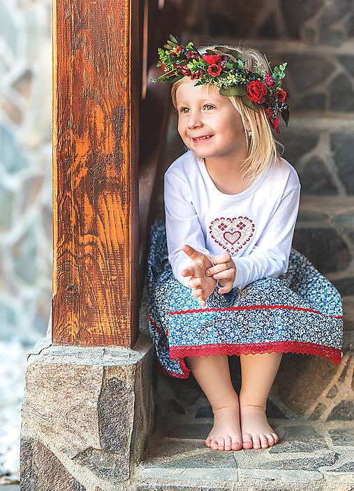 Tričká - Detské tričko s dlhým rukávom - Srdiečko - 10702566_