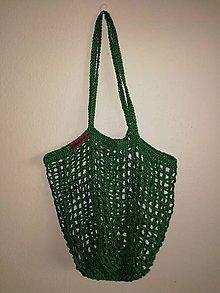 Nákupné tašky - sieťovka: fľašková zelená - 10702191_