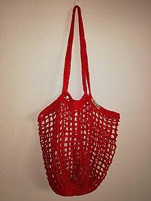 Nákupné tašky - sieťovka: červená - 10702212_