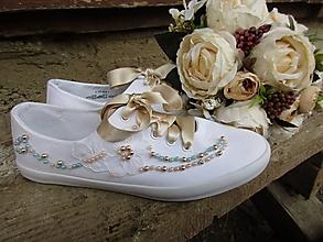 Obuv - svadobné perličky - 10704414_
