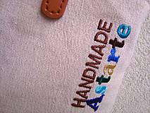 Veľké tašky - Ľanová taška na veľ. A4 / folk 1  (hnedomodrá) - 10703701_