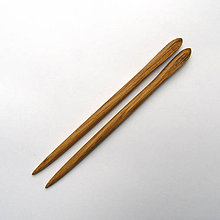 Ozdoby do vlasov - Drevené ihlice do vlasov - dubové - 10705102_