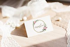 Papier - Menovka na stôl-vzor 02 - 10704716_