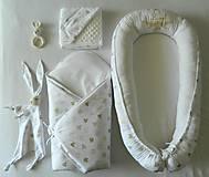 """Textil - Velký set do pôrodnice """"vyšívané hniezdo zlaté"""" - 10708151_"""