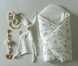 "Textil - Set do pôrodnice "" smotanový zajko "" - 10708187_"
