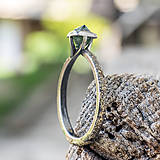 Prstene - Ako požiadať divožienku o ruku /s diamantom/ - 10706178_