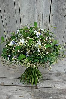 Kytice pre nevestu - Lesná svadobná kytica - 10705905_