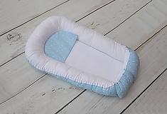 Textil - Hniezdo pre bábätko bielo-modré s mini hviezdičkami - 10706649_