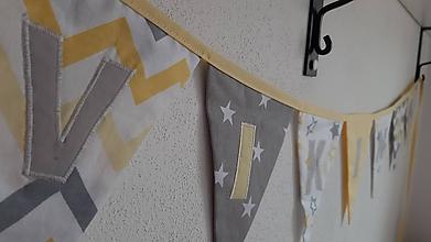 Detské doplnky - Girlanda vlajky ... VIKINKA - 10707748_
