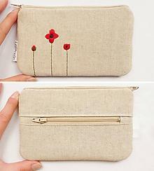 Peňaženky - Peňaženka - Vyšívaná (Mak vlčí) - 10706955_
