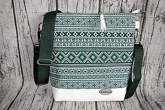 Kabelky - Crossbody kabelka vo folkórnom štýle - 10707147_