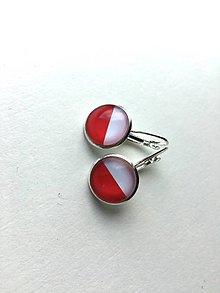 Náušnice - Bielo-červené - 10706580_