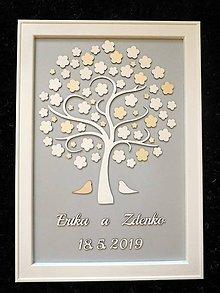 Dekorácie - svadobná kniha hostí/drevený strom 28 - 10706193_