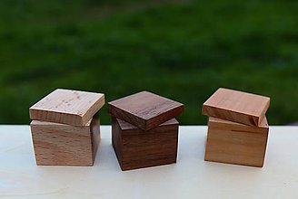 Krabičky - Drevená krabička na prsteň - 10706391_
