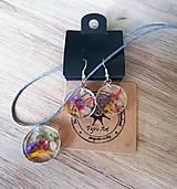 Sady šperkov - Súpravička so sušenými kvietkami - 10705696_