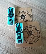 Odznaky/Brošne - Drevená brošňa - 10708308_