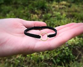 Náramky - Karma náramok s kruhom  (Tyrkysová) - 10707733_