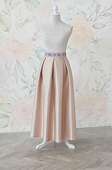Sukne - Folklórna MAXI sukňa s vreckami - 10705809_