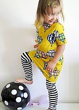 Detské oblečenie - šaty z biobavlny Do oblakov! (žlté) - 10707331_