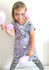 Detské oblečenie - šaty z biobavlny Motýľ - 10707344_
