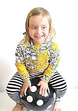 Detské oblečenie - mikina z biobavlny Kvety Plamienka - 10707371_