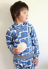 Detské oblečenie - mikina z biobavlny Potrubie - 10707385_